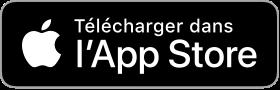 Footer - Logo Apple Store pour télécharger l'application Compagnie Océane