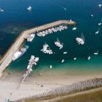 photo aérienne du port de Hoedic