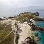photo aérienne de la côte d'Hoedic