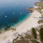photo aérienne de la plage d'Hoedic