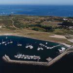 photo aérienne du port de Melvan Hoedic