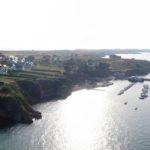 vue aérienne de l'île de Houat