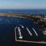 photo aérienne du port d'Houat
