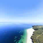 vue aérienne plage de l'île de Groix